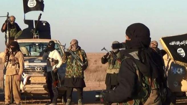 Milicianos de Estado Islámico en Mosul.
