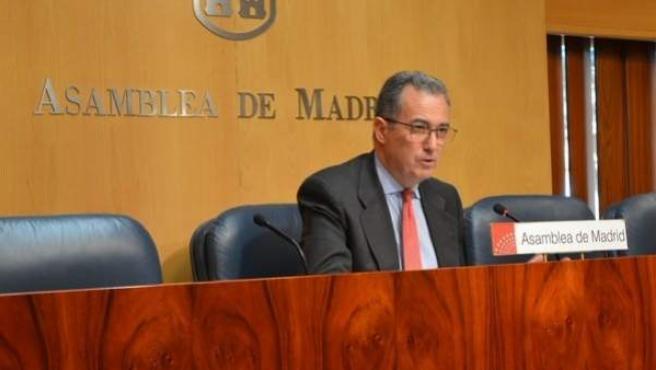 Enrique Ossorio, portavoz del PP en la Asamblea de Madrid.