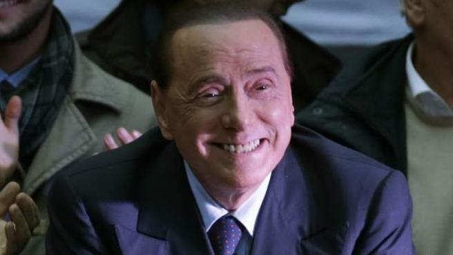 Una imagen del político y magnate italiano de los medios de comunicación, Silvio Berlusconi.