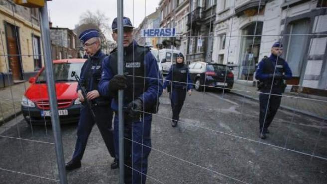 Imagen de archivo de una operación antiterrorista en Bélgica.