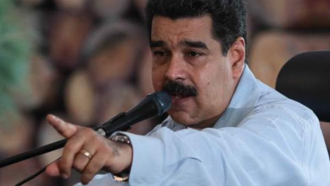 Nicolás Maduro, durante un acto gubernamental.