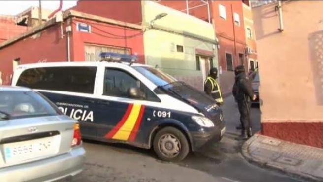 Un furgón de la Policía Nacional en Melilla.