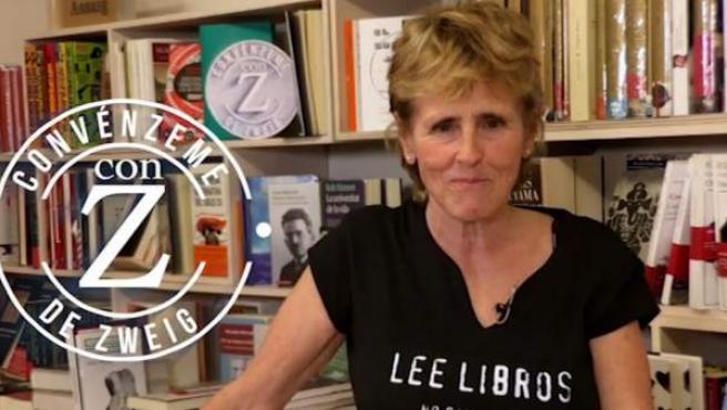 Mercedes Milá, en la librería +Bernart de Barcelona, donde es una activa colaboradora.