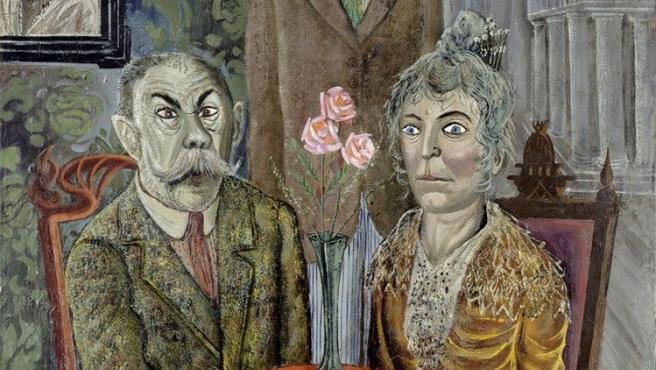 'La familia del pintor Adalbert Trillhaase', óleo de Dix de 1923