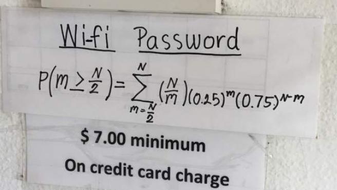 La ecuación que el local pide resolver.