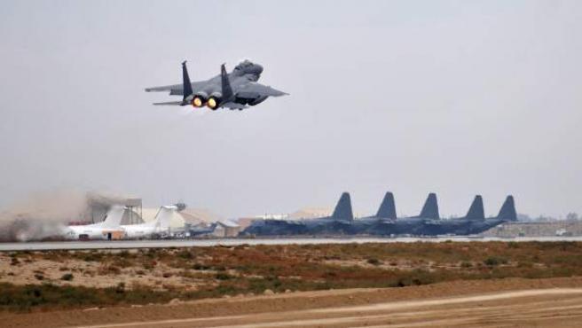 Una imagen de la base aérea de Bagram, en Afganistán.
