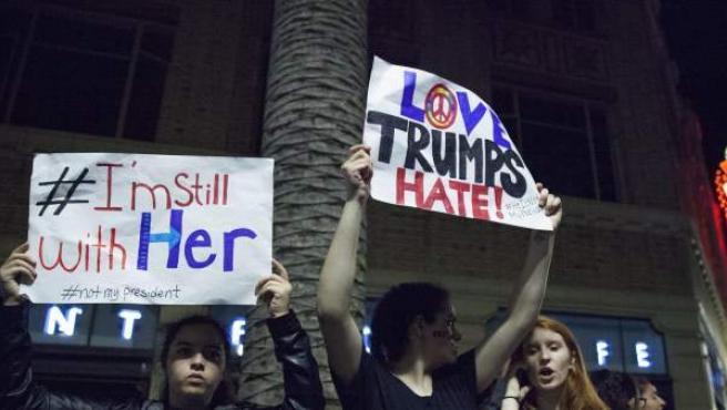 Las manifestaciones contra Trump se suceden en EEUU.