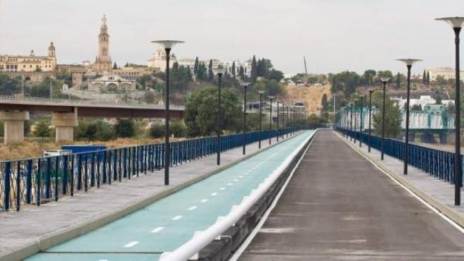 Carril bici del Puente de Hierro.