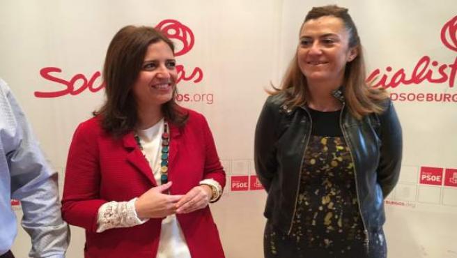 Esther Peña (izda) y Virginia Barcones (dcha) en la Jornada del PSOE de Burgos