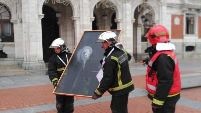 Una de las piezas sustraida del Ayunmtamiento de Valladolid durante el simulacro