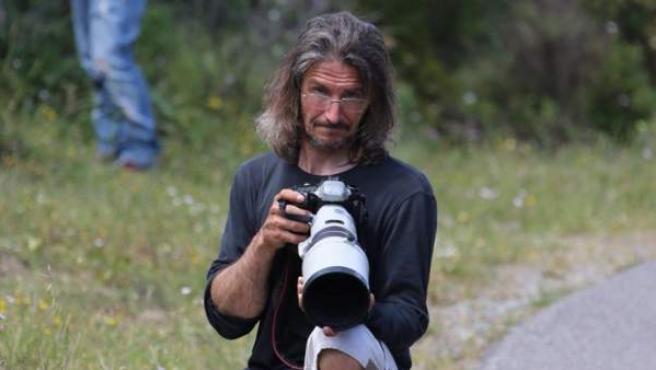 Stéphane Giraudi, fotógrafo que ha muerto en un rally en Córcega.