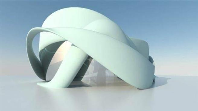 La sala de reuniones de un hotel de lujo holandés que se fabricará con una impresora 3D.