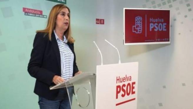 La parlamentaria andaluza del PSOE Manuela Serrano