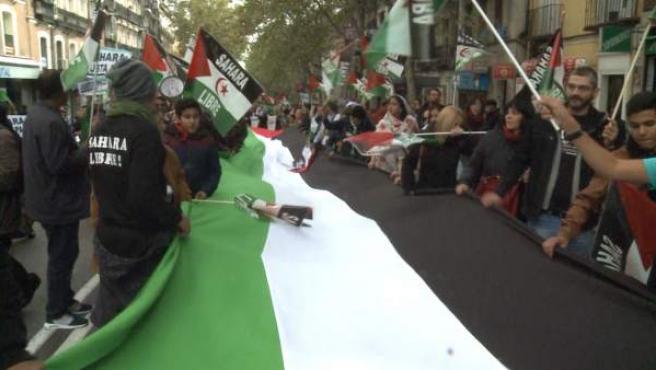 Miles de personas marchan por un 'Sáhara Libre'.