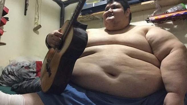 Juan Pedro, el hombre más obeso del mundo, con 500 kilos.