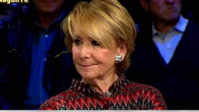 Esperanza Aguirre, en LaSexta Noche.