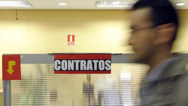 Interior de una oficina del Servicio Público de Empleo en Valladolid.