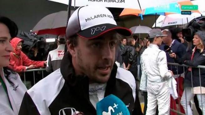 El piloto asturiano de Fórmula 1, Fernando Alonso, tras el GP de Brasil.