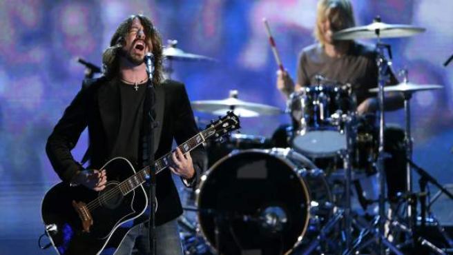 Dave Grohl, el vocalista y guitarrista de Foo Fighters, durante un concierto.