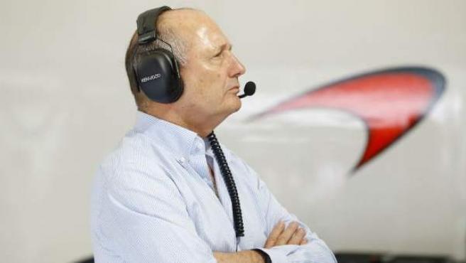 El jefe de McLaren Ron Dennis.