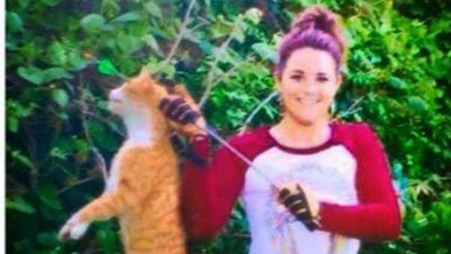 La imagen que la veterinaria Kristen-Lindsey difundió en sus redes sociales.