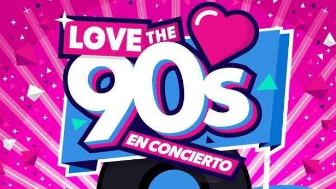 Cartel del festival Love the 90´s que se celebrará el próximo 13 de mayo en el Barclaycard center de Madrid.