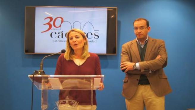 La alcaldesa de Cáceres, Elena Nevado