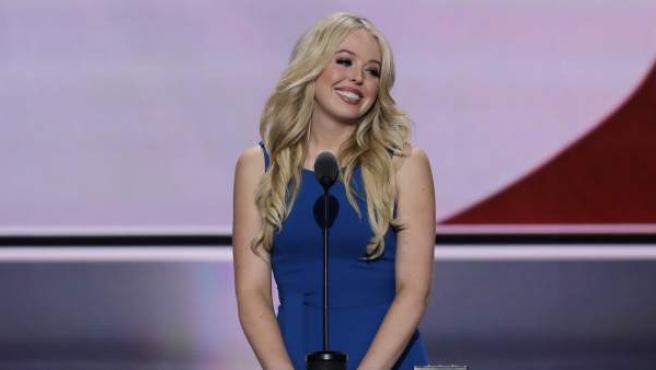 Tiffany Trump, hija del presidente electo de Estados Unidos, en la Convención Nacional Republicana, el pasado mes de julio.