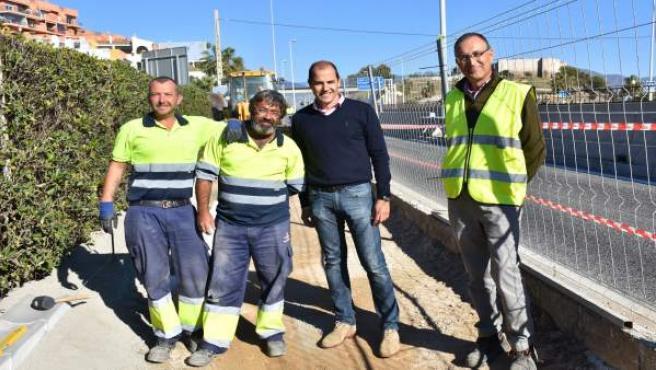 Fuengirola inicia las obras de creación de zona de paso peatonal