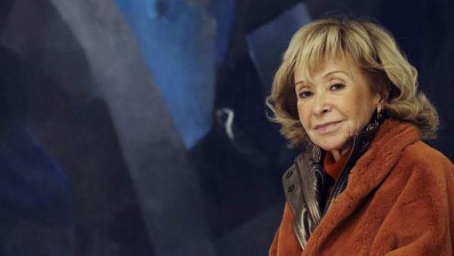 María Teresa Fernández de la Vega, durante la entrevista.