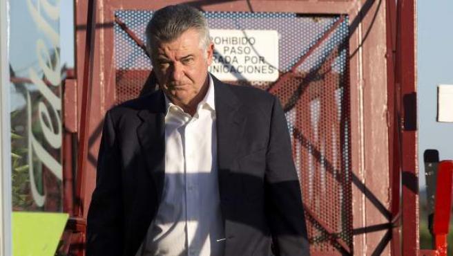 Juan Antonio Roca a su salida de la prisión provincial de Alhaurín de la Torre en el primer permiso penitenciario.