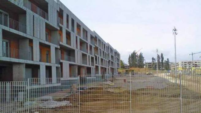Nuevas viviendas en construcción.