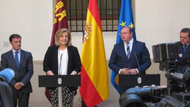 Báñez y Sánchez, durante la rueda de prensa
