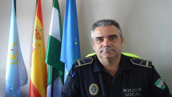Jefe de prensa de la Policía Local de Nerja, Miguel Ángel García.
