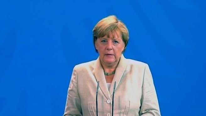 Angela Merkel, en una comparecencia ante los medios.