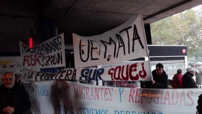 Manifestación frente al CIE de Aluche.