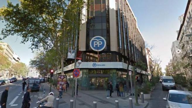 Imagen de la sede del PP en la calle Génova de Madrid.