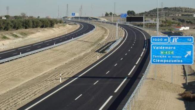 Otra de las autopistas en situación de insolvencia, la Radial 4, que une Madrid y Toledo.
