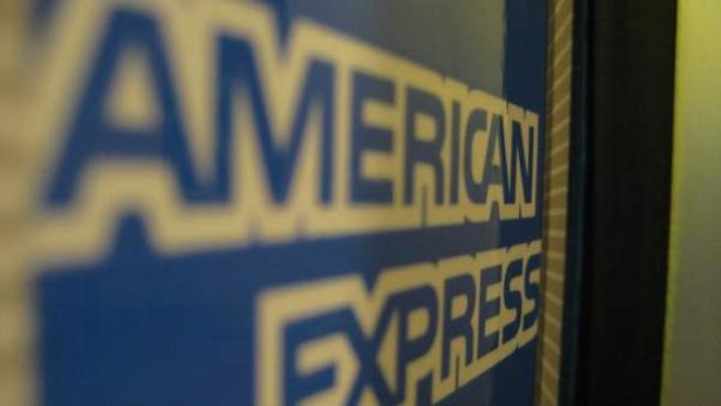 Logotipo de American Express fotografiado en 2008.