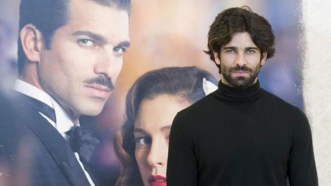 El actor Rubén Cortada, durante la promoción de la serie 'Lo que escondían tus ojos'.