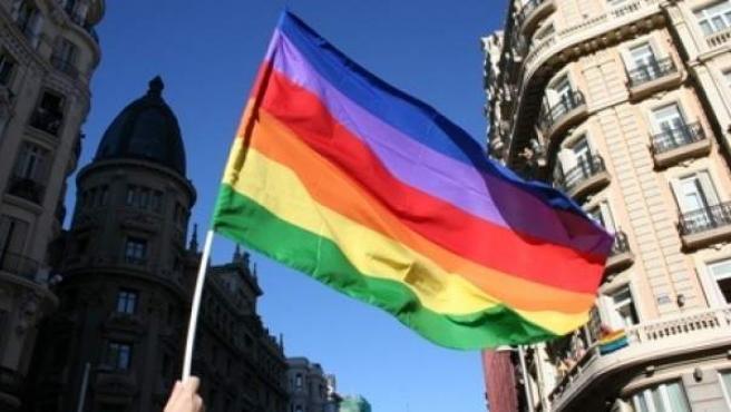Bandera que representa a la comunidad LGTB.
