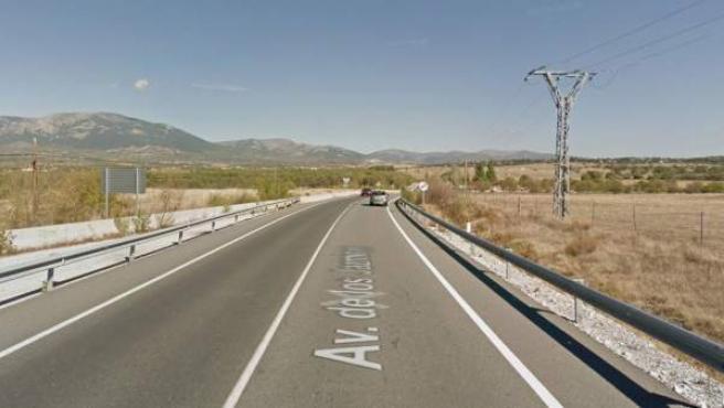 Carretera M-609, a la altura de la localidad de Soto del Real (Madrid).