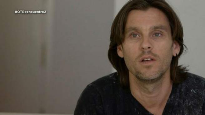Javián, en uno de los documentales de 'OT: El reencuentro'.
