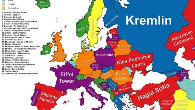 El Mapa De Europa Segun Lo Que Hay Que Ver En Cada Pais De
