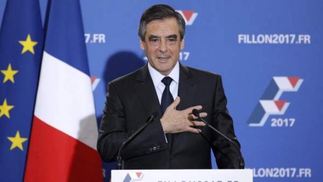 François Fillon, tras ganar en las primarias de la derecha francesa de cara a las elecciones presidenciales de Francia de 2017.
