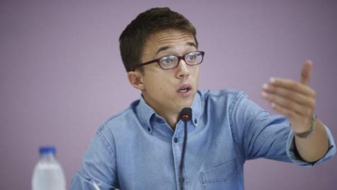 Iñigo Errejón en la presentación de la Universidad de Podemos.