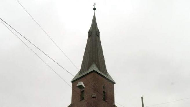 Una iglesia católica en Oslo, Noruega.