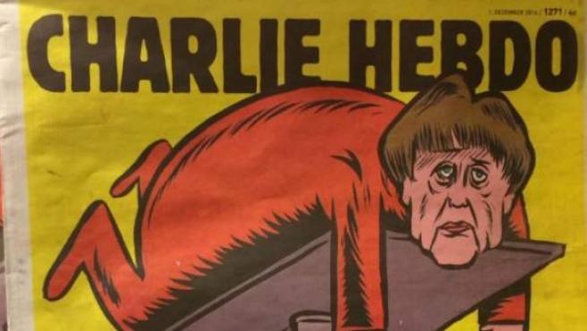 Una imagen de la portada del primer número del Charlie Hebdo alemán.
