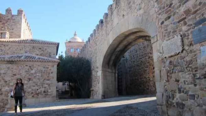 Arco de la Estrella de Cáceres.