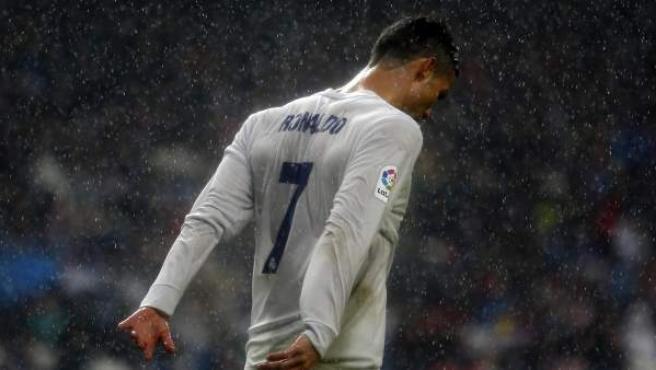 El delantero del Real Madrid Cristiano Ronaldo, en el último partido de Liga de su equipo.